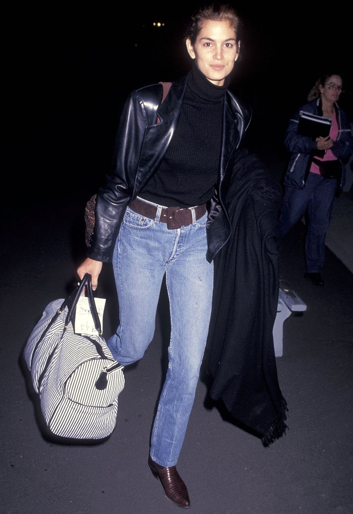 Best Leather Blazers: Cindy Crawford