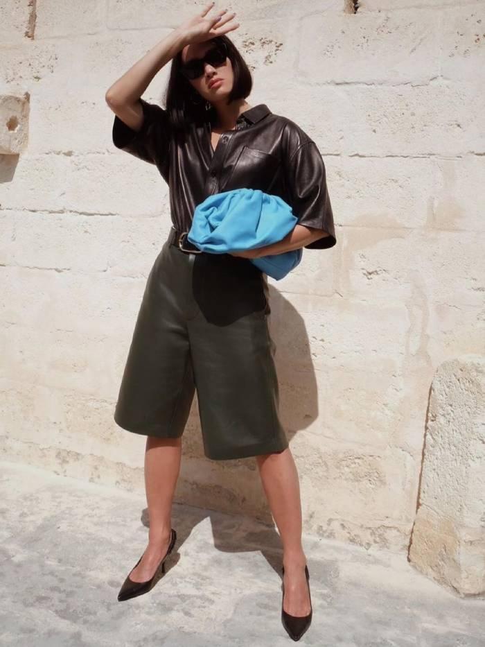 leather in summer trend: tiffany hsu