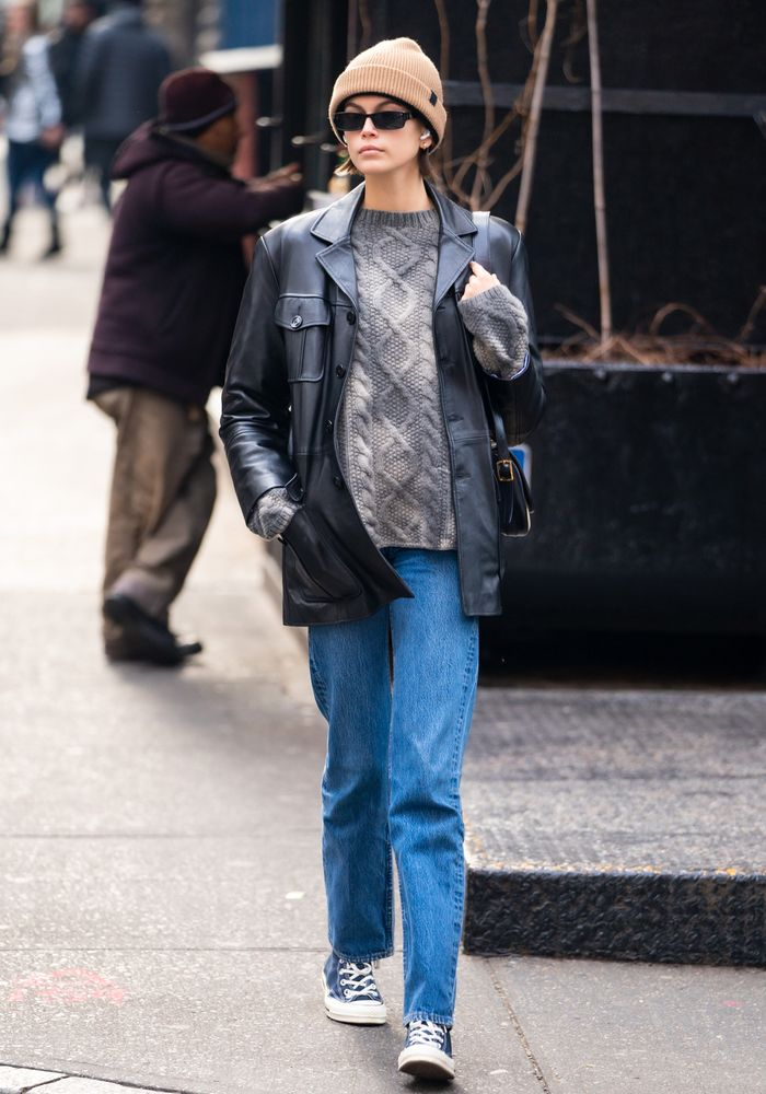 Celebrities wearing jeans in 2020: Kaia Gerber