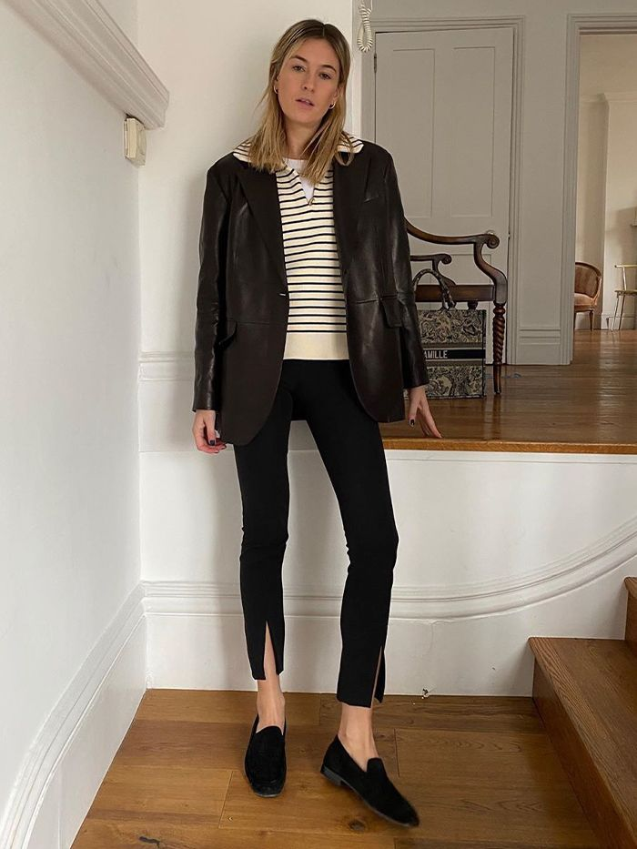 Basic Outfits: Camille Charrier Blazer and Leggings