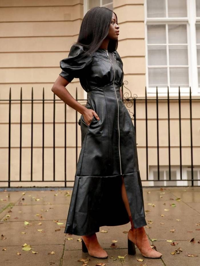 dress trends 2020: leather