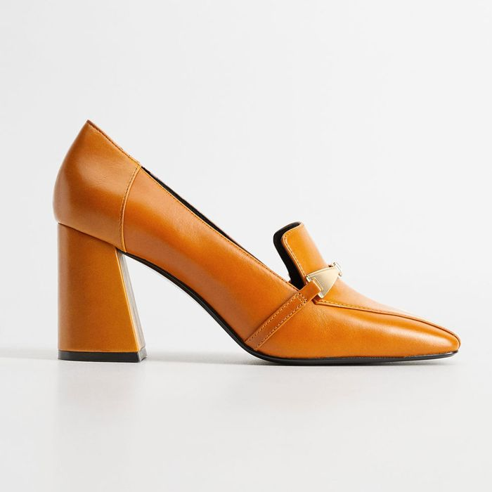 Mango Heeled Loafers