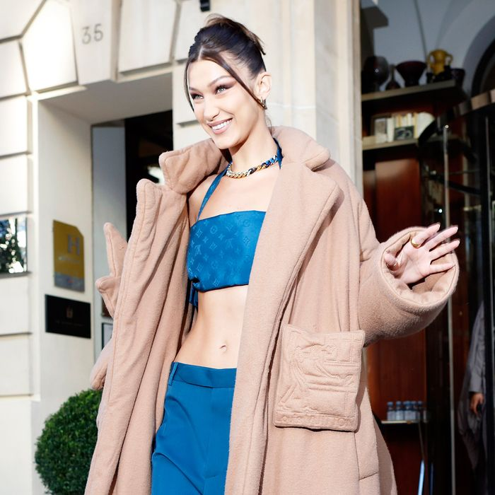 Bella Hadid Just Wore the Most Polarizing 2020 Trend, Period
