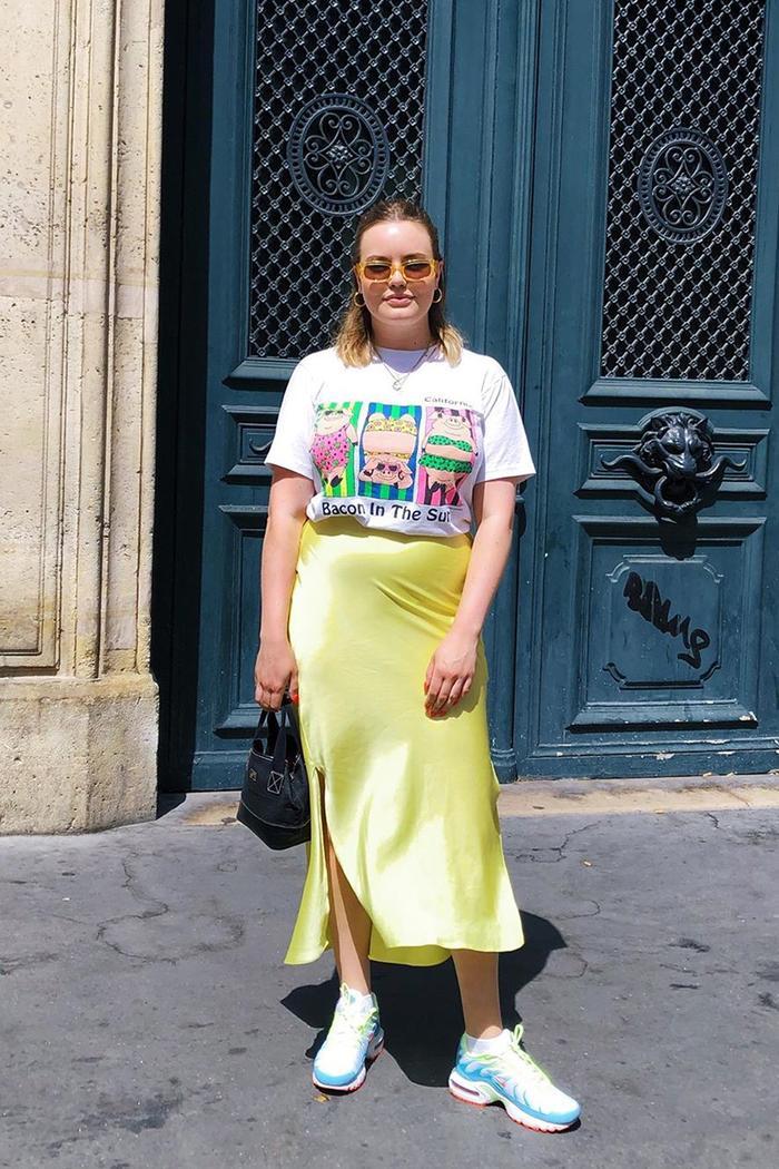 ASOS bias-cut slip skirt