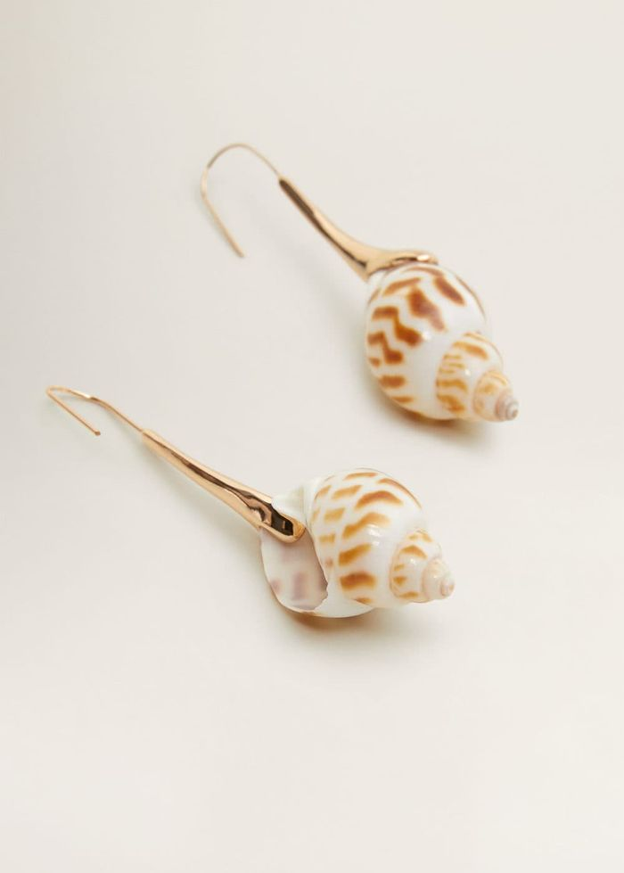 Mango Shell Pendant Earrings
