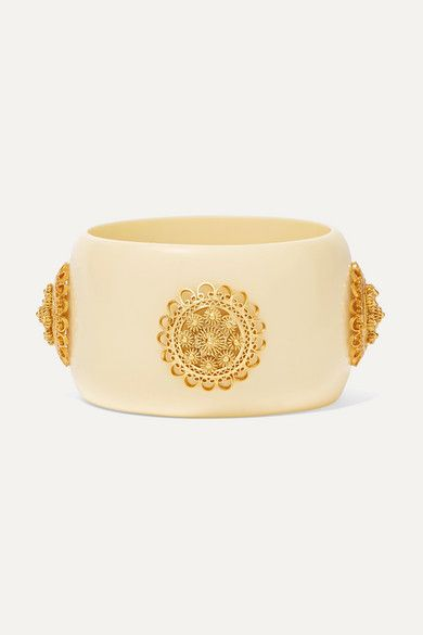 Mallarino Coco Resin and Gold Vermeil Cuff