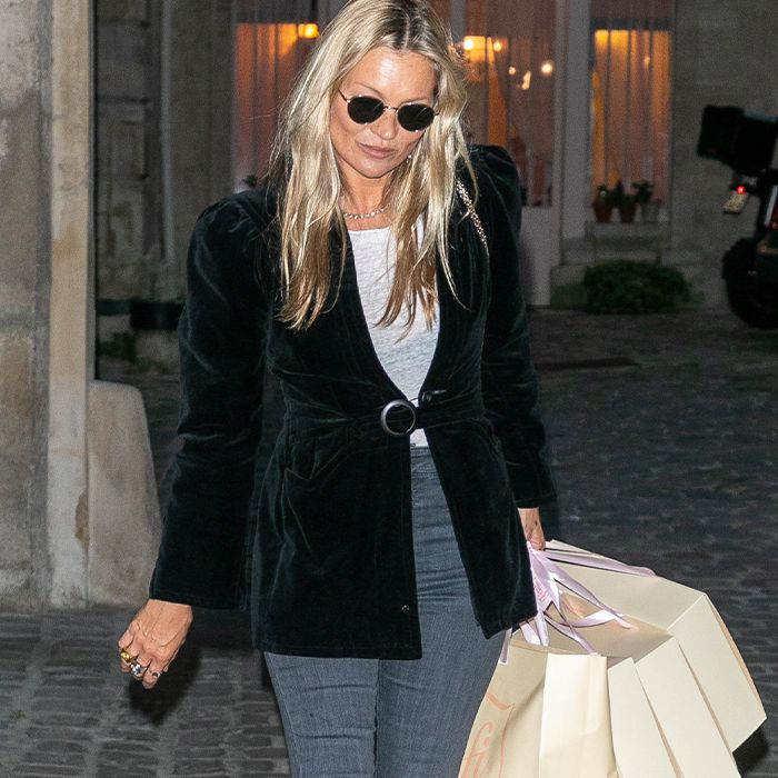 Kate Moss Wore Skinny Jeans In the Exact Same Way Four Times This Week