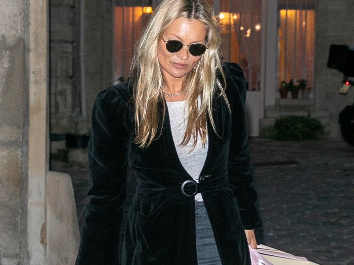 Kate Moss Wore Skinny Jeans in the Exact Same Way 4 Times This Week