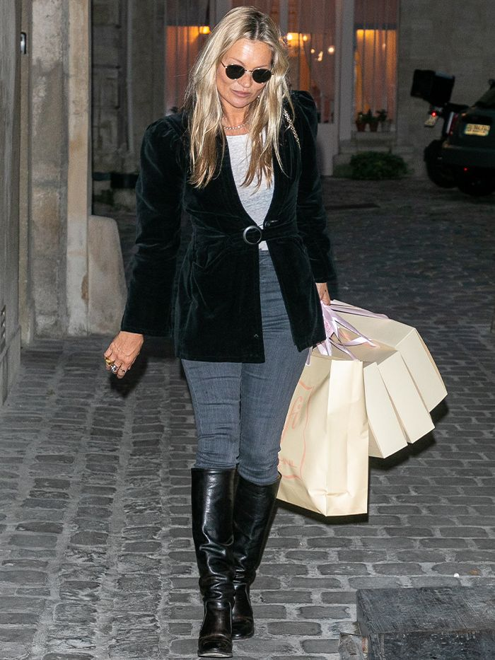 Kate Moss: Skinny Jeans Outfit Formula