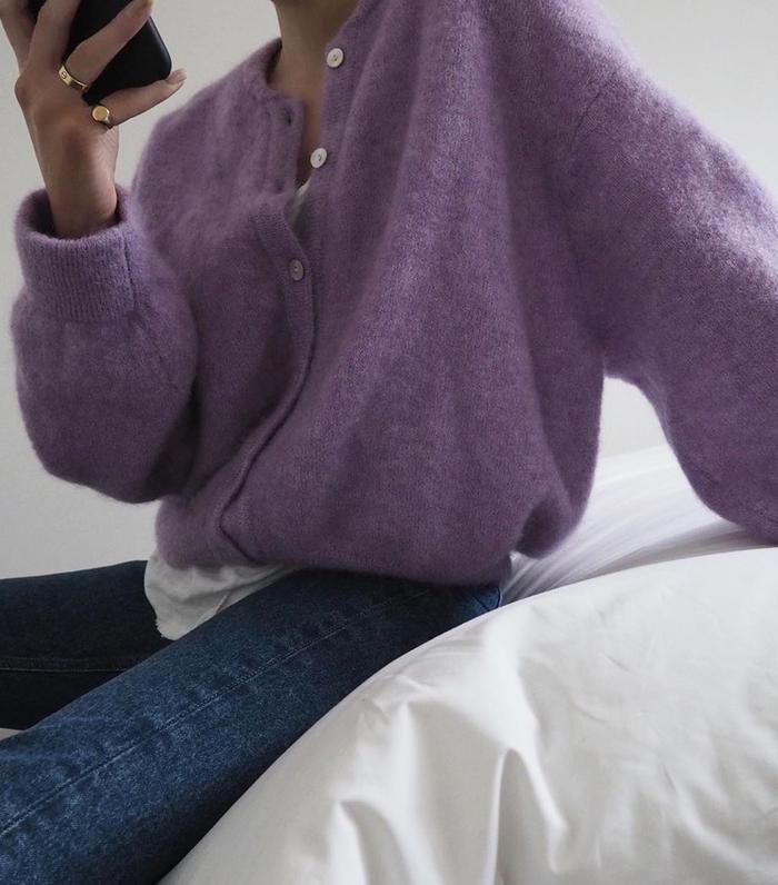 Lilac knitwear: