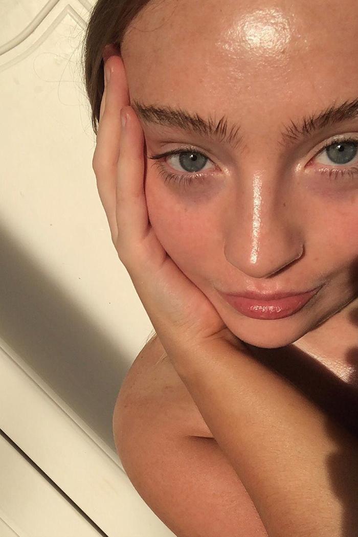 Skin Mistakes: Woman with dewy skin