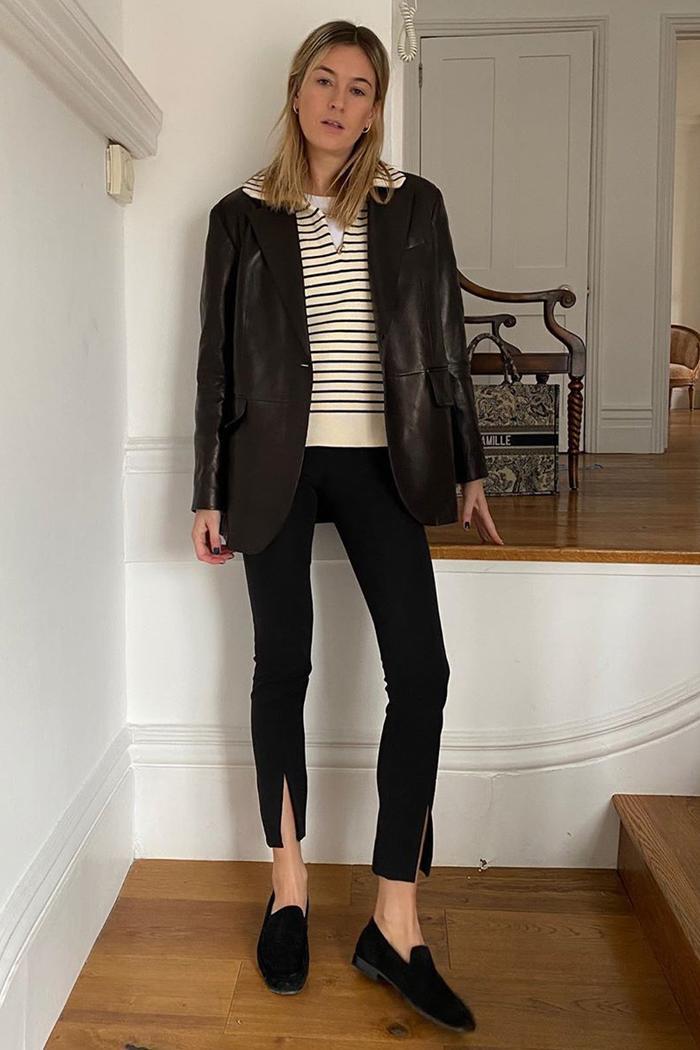 Camille Charriere: Zara Split Hem Leggings