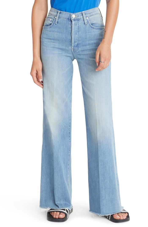 Mother The Tomcat Roller High Waist Fray Wide Leg Jeans