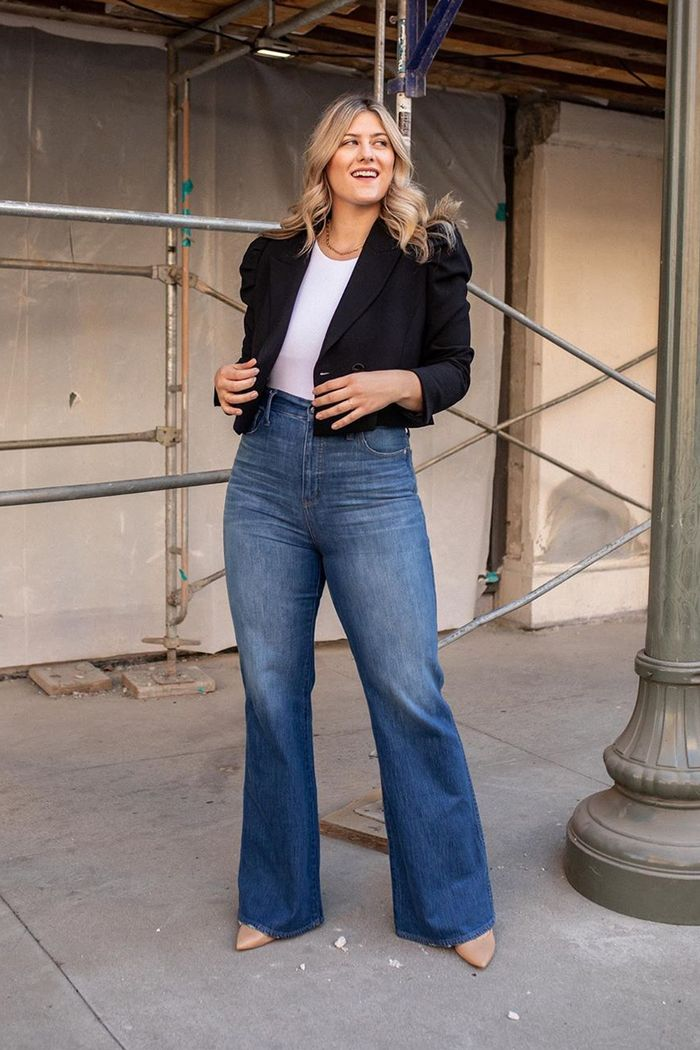 wide-leg jean outfits