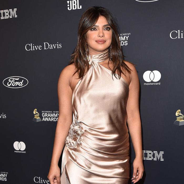 Priyanka Chopra Jonas Just Pulled a J.Lo Neckline on the Grammys Red Carpet
