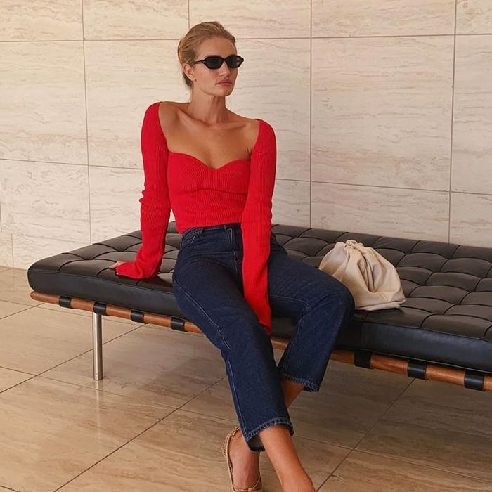 This Is Officially Rosie HW's Favourite Way to Wear a Nice Top and Jeans