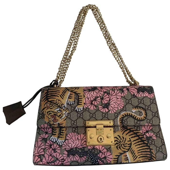 Gucci Padlock Cloth Crossbody Bag