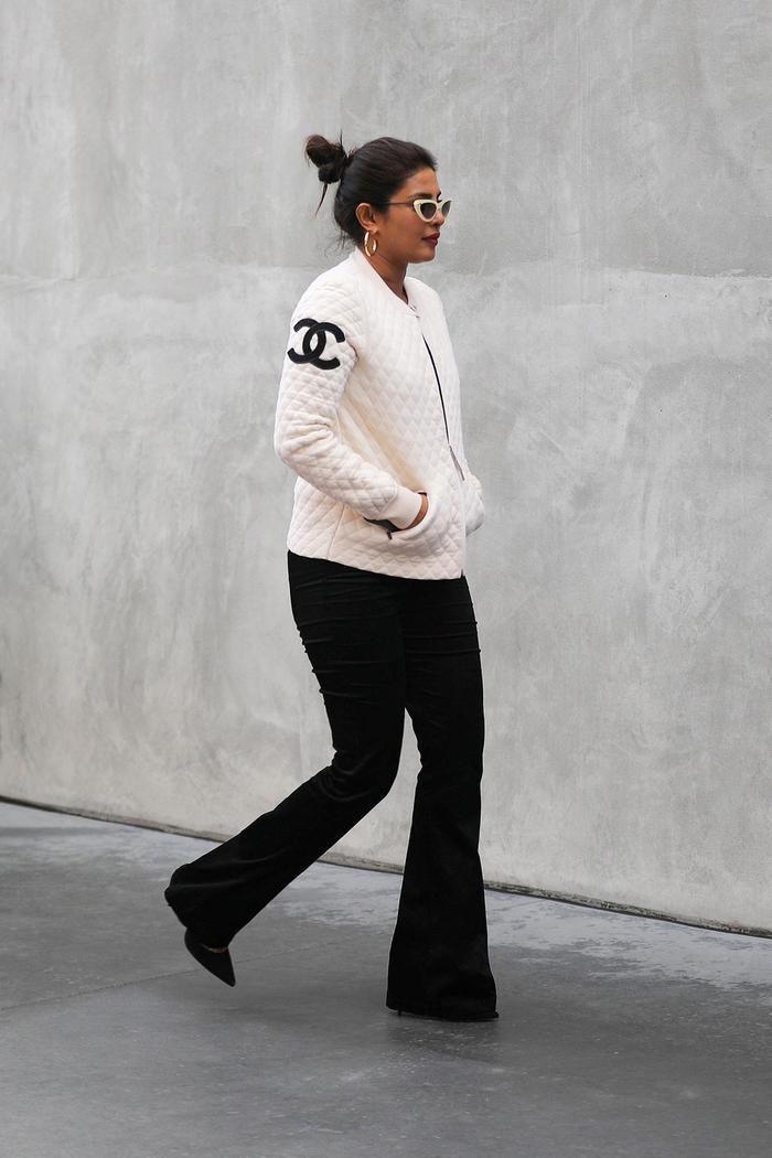 Priyanka Chopra wearing flared jeans