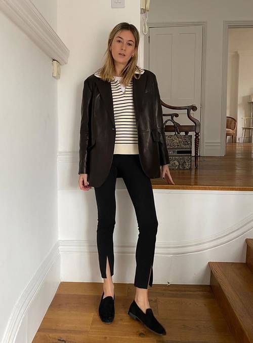 How to Make Leggings Look Expensive: @camillecharriere