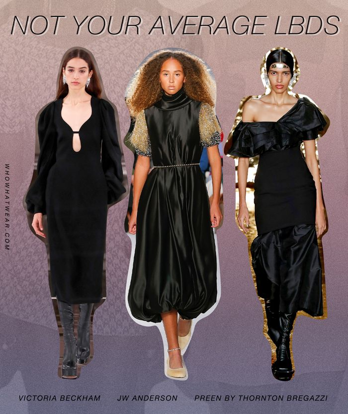 The LBD trend from London Fashion Week