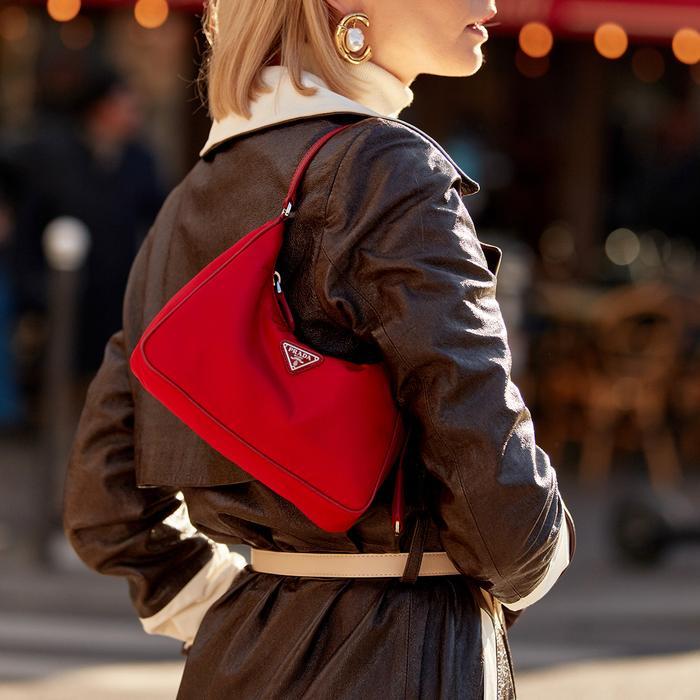 Prada Reissued Shoulder Bag Street Style