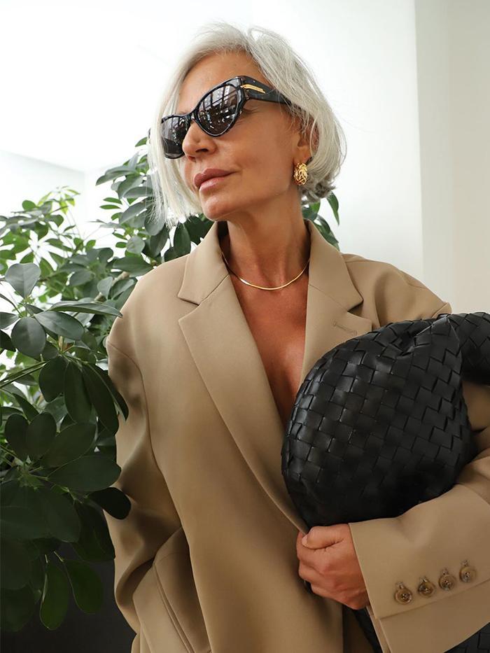 Grey Hair Women: Grece Ghanem