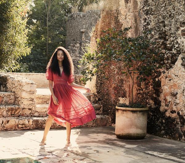 Dôen Violet Dress in Dark Wineberry