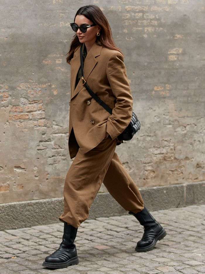 Copenhagen Fashion Week Style: Chelsea Boot + Brown Suit