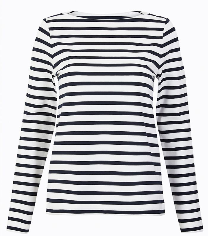 M&S Collection Striped Long Sleeve Top