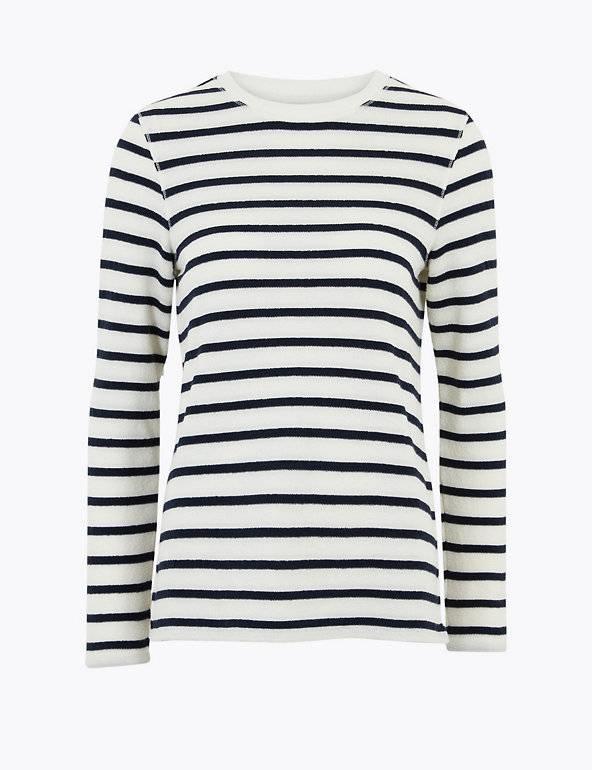 M&S Collection Cotton Striped Sweatshirt
