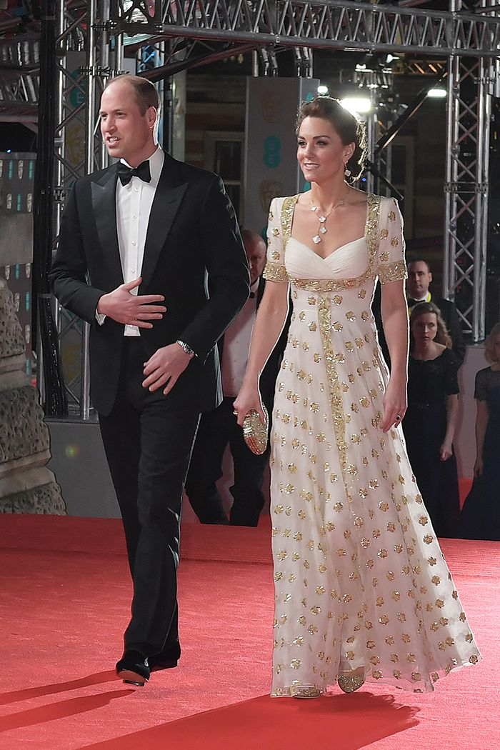 Baftas red carpet 2020: Kate Middleton in gown
