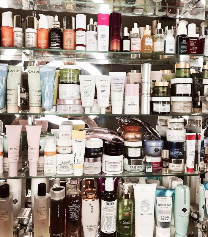 Medicine cabinet beauty products