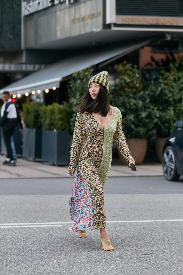 Spring 2020 Street Style Floral Midi Dress