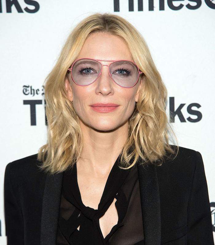 Cate Blanchett glasses hairstyle