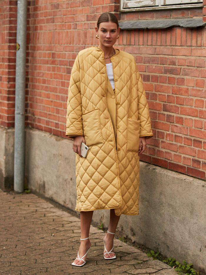 quilted coat trend: copenhagen fashion week
