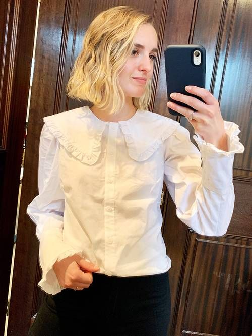 Ruffle collar blouses