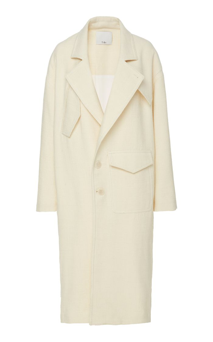 Tibi Oversized Wool-Blend Coat