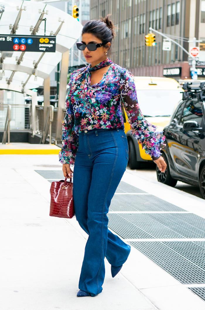 Priyanka Chopra flared jeans