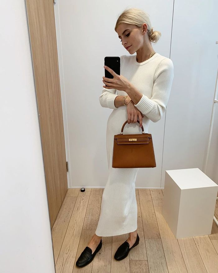 Influencer Caroline Daur Sweater Maxi Dress Selfie