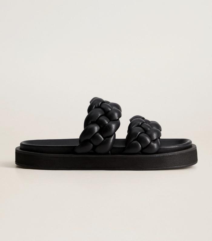 Mango Platform Braid Sandal