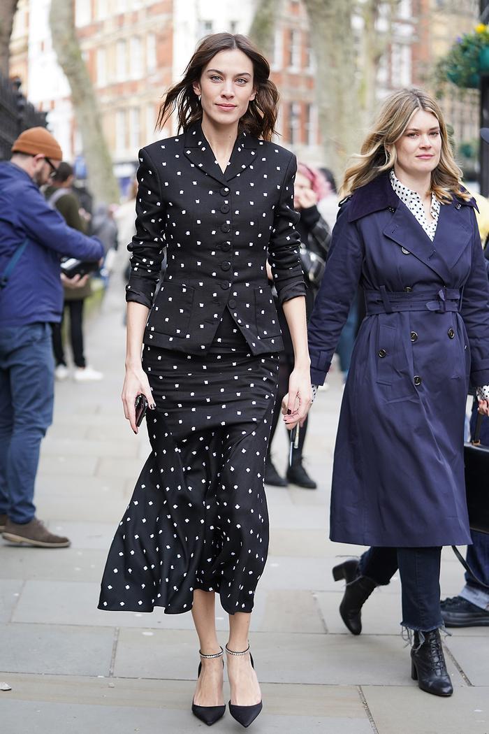 Celebrities at fashion week autumn winter 2020