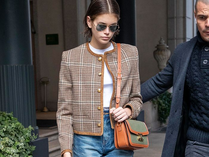 Kaia Gerber Just Wore the Coolest Jeans-and-Boots Outfit In Milan