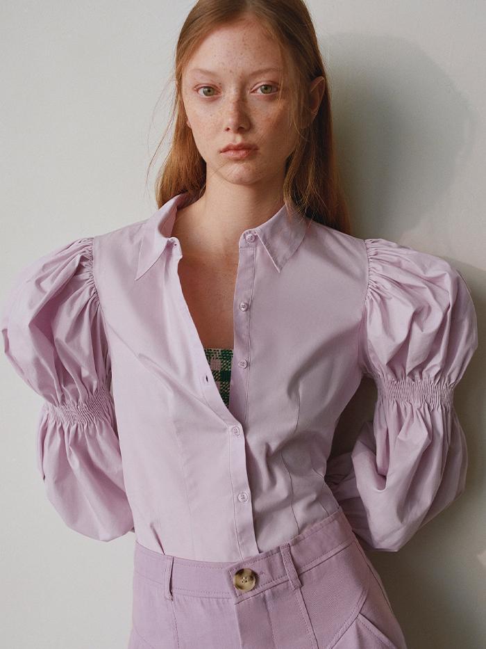 Zara Puff Sleeve Blouse: Spring Trends