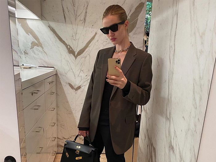 Rosie Huntington-Whiteley Taught Me 4 Genius Ways to Style a Blazer