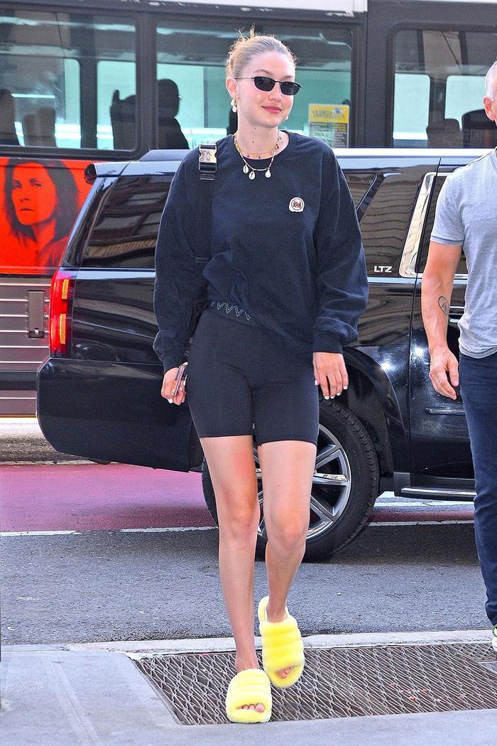 Gigi Hadid Ugg slippers