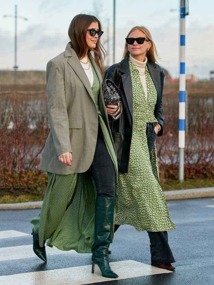 dress over trousers trend: copenhagen fashion week