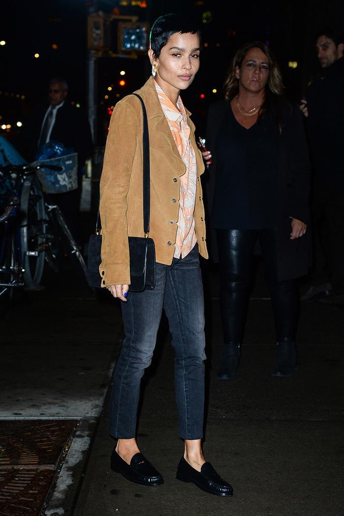 Zoe Kravitz skinny jeans