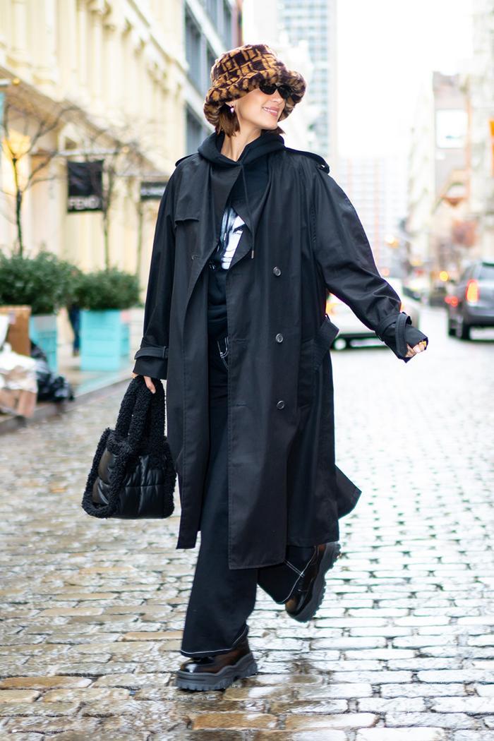 Bella Hadid NYFW outfit