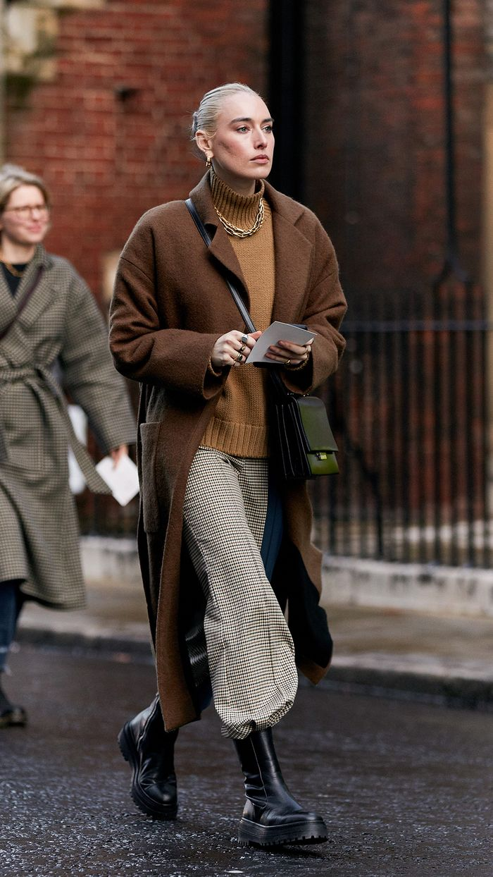 London Fashion Week Street Style 2020: Chunky Chelsea Boots