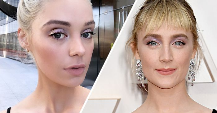 How to Get Saoirse Ronan's Glossy, Periwinkle Eye Look in 5 Steps or Fewer